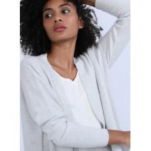 Gilet avec poches en cachemire - Hazel 6612 gris clair - 11 Gris clair
