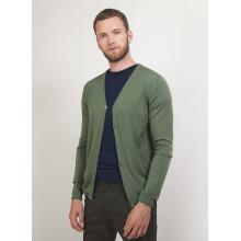 Gilet boutonné en laine - Brad 7085 Damas - 18 Violet foncé