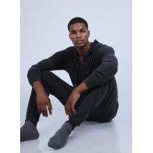 Sweat zippé à capuche cachemire - Owen 6610 noir - 01 Noir
