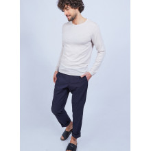 Pull col rond en laine - Luciano 6401 - 12 Beige clair