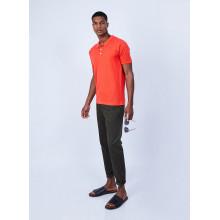 Polo en coton et soie - Lenny 6483 ardent - 15 Orange