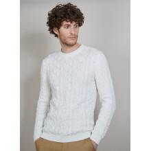 Pull torsadé en coton - Dublin 6800 blanc - 02 Blanc