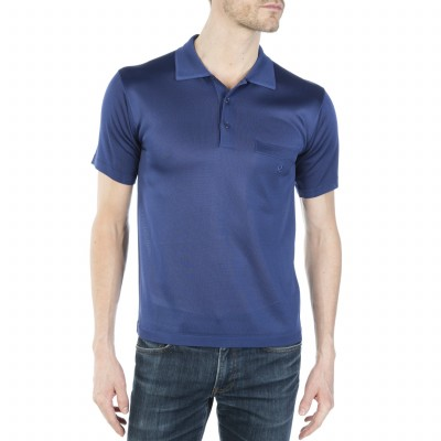 Short sleeves polo made of Fil lumière Cédric