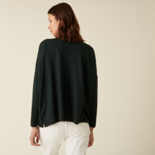Buttoned cardigan with pockets in merino wool - Ava