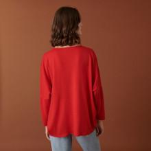 Merino wool batwing sleeve sweater - Boxe