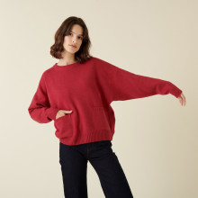 Loose-fit recycled cashmere sweater with pockets - Davina