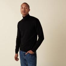 Merino wool turtleneck sweater with logo - Enzo