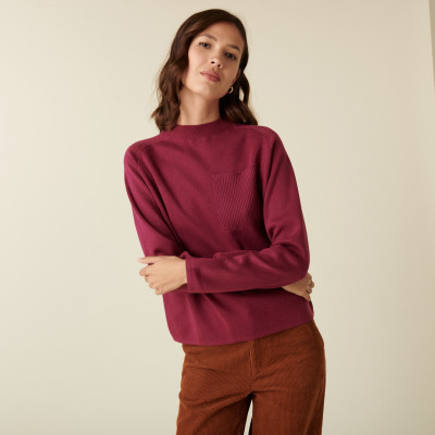 Pull manches raglan finition bords côtes - Calisse