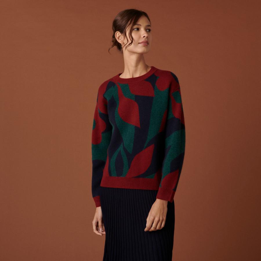 Maison Montagut round neck cashmere sweater - Caroline