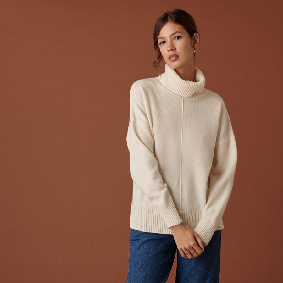 3-ply cashmere turtleneck sweater - Adena