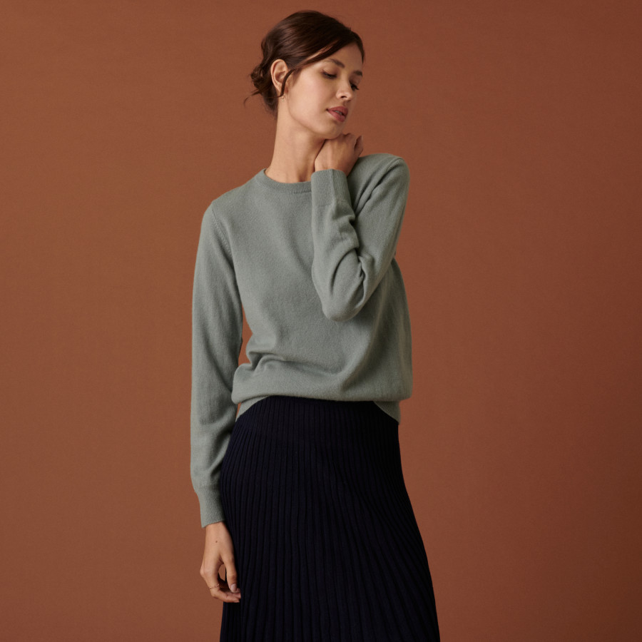 Round neck cashmere sweater - Abeline