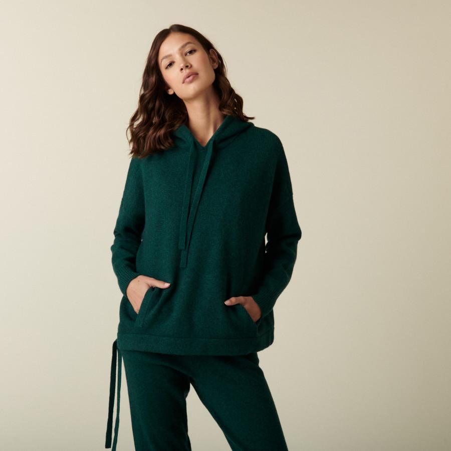 Cashmere hoodie with pockets - Ado