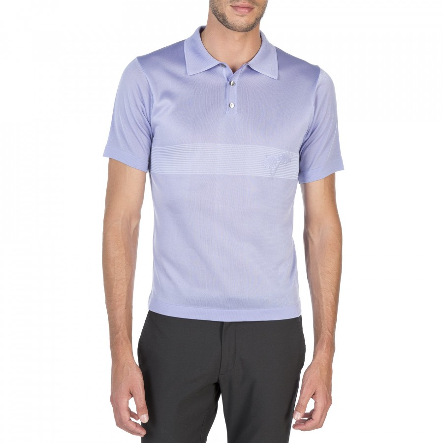 Short sleeves polo in Fil Lumière