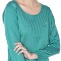 T-shirt fantaisie manches longues Fil Lumière Dorka vert foncé