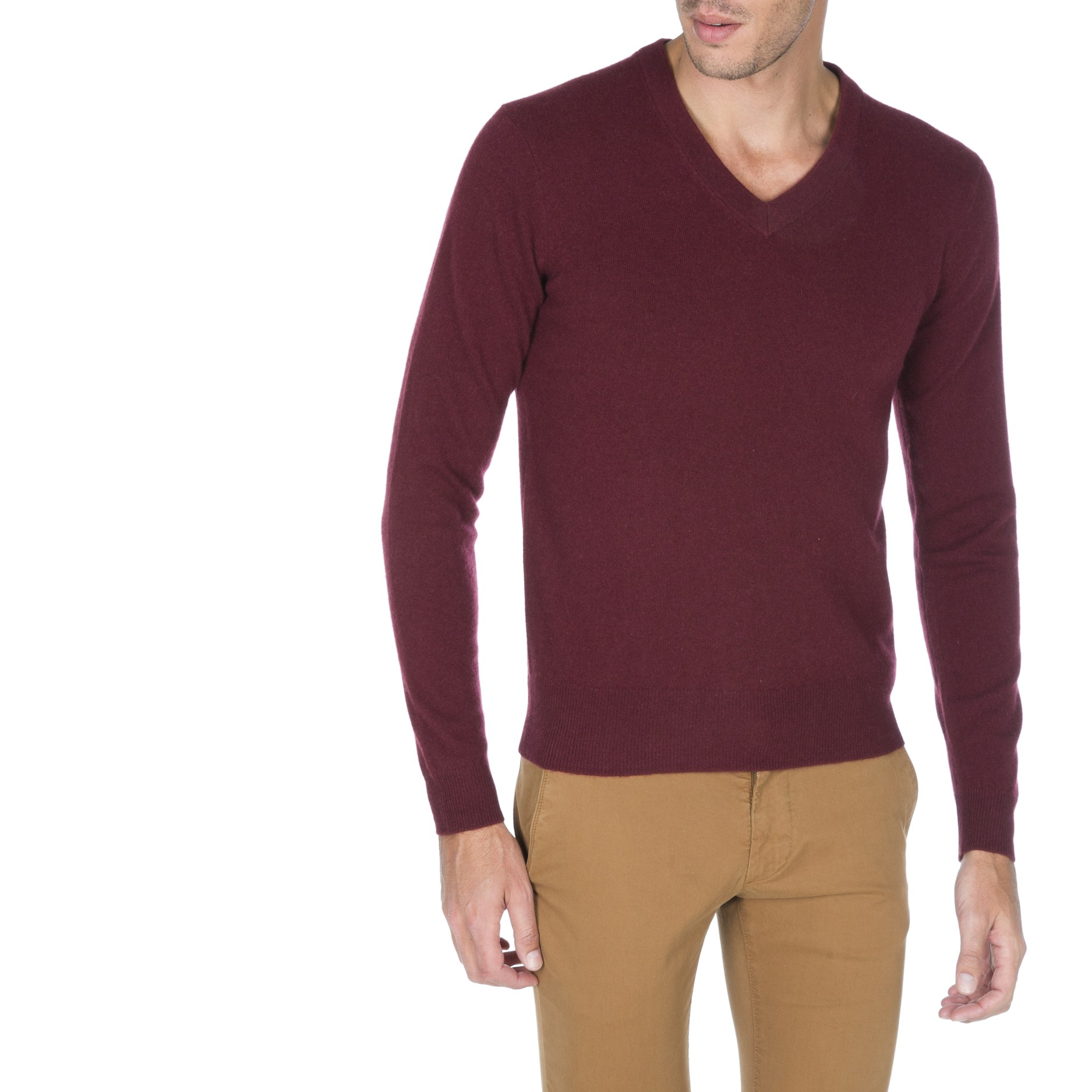 e5dff37d9a0 Pull col v homme - Laine et tricot
