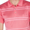 Striped polo made of Fil lumière Gontrand