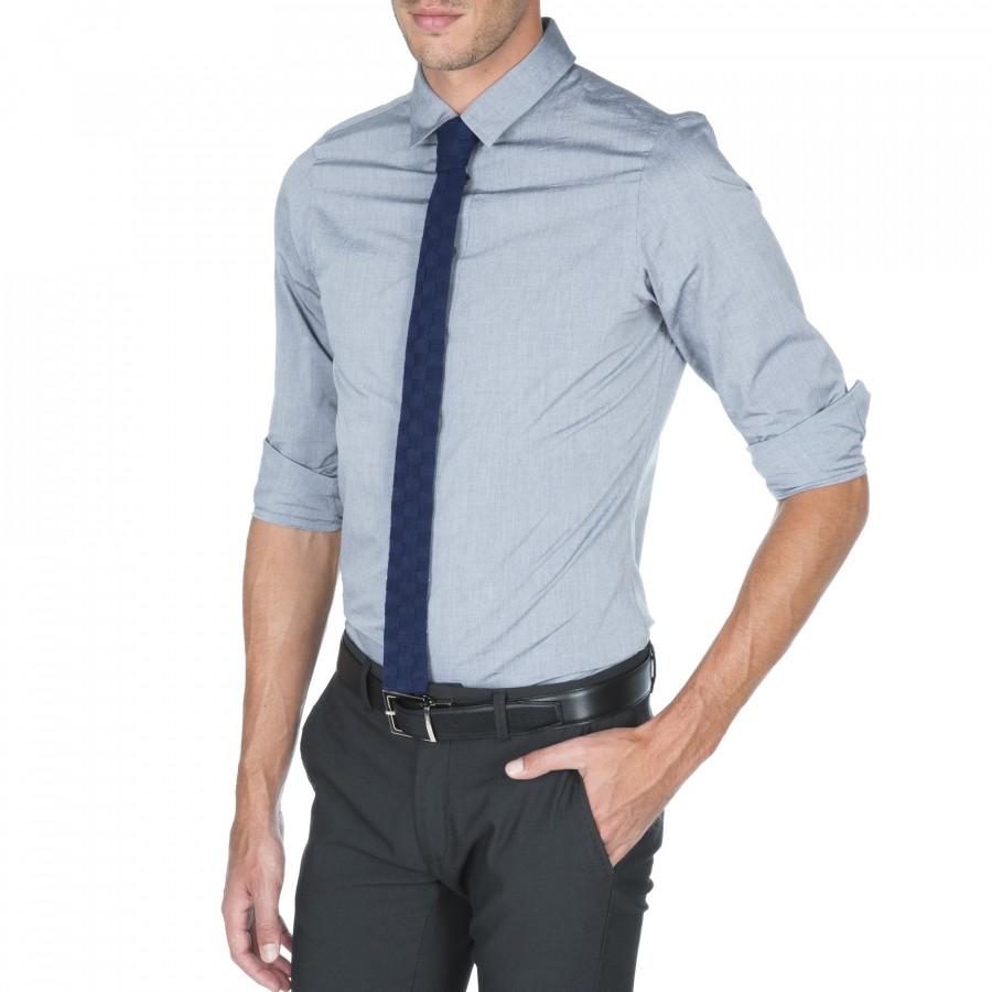 Cravate laine Gilles bleu foncé