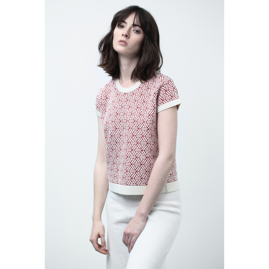 T-shirt manches courtes Collaboration rouge clair