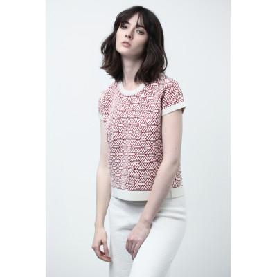 T-shirt femme manches courtes Montagut x Benjamin Juveneton