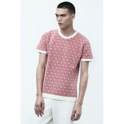 T-shirt rouge manches courtes Homme Montagut x Benjamin Juveneton