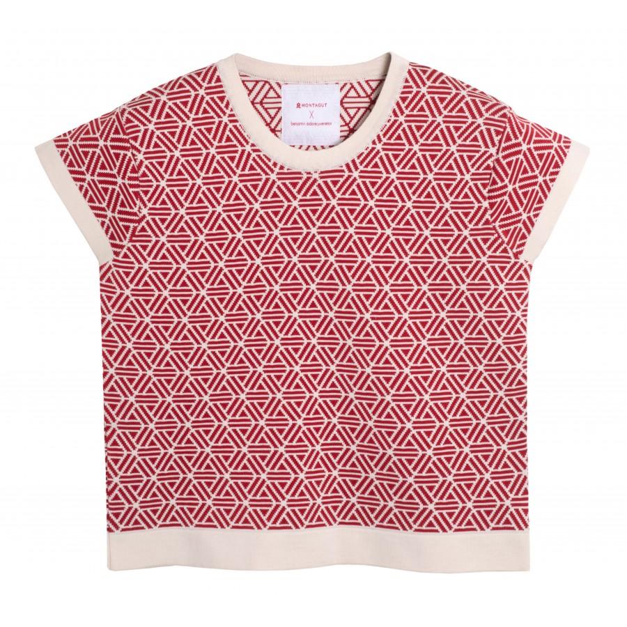 T-shirt femme manches courtes Capsule rouge écru