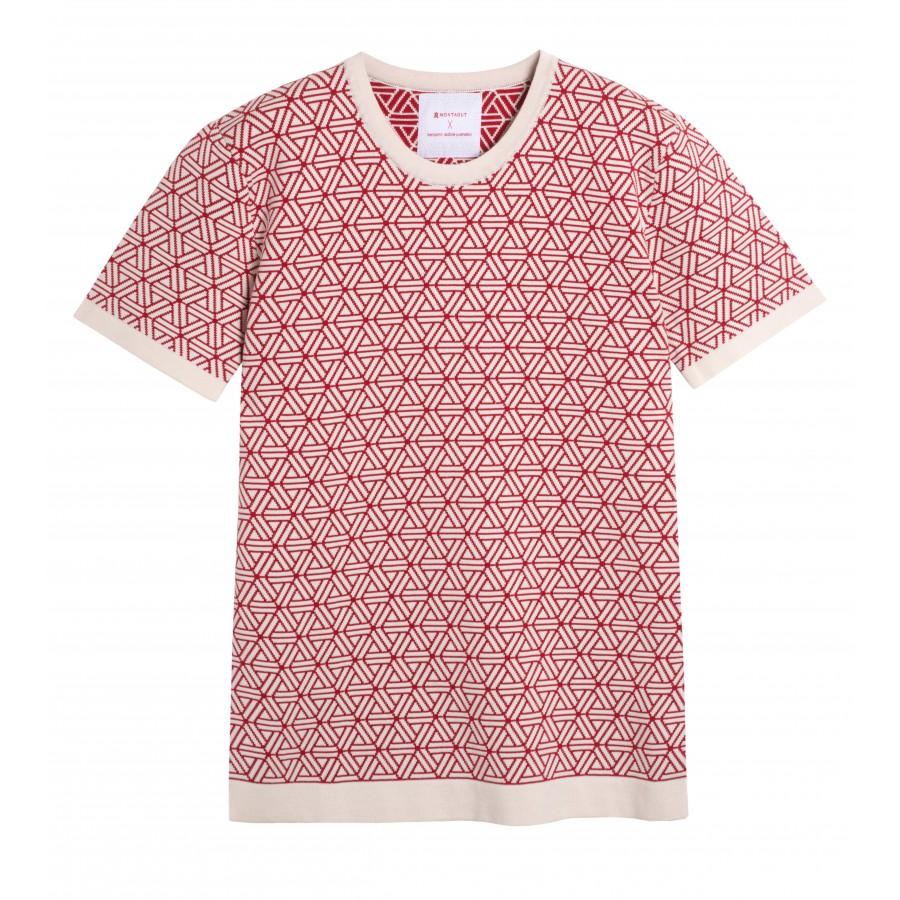 T-shirt manches courtes Homme Capsule écru rouge