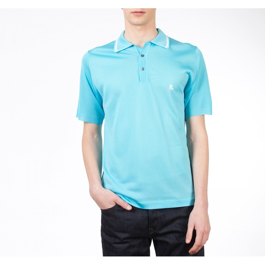 Polo made of fil lumière with fashion detail Bernard