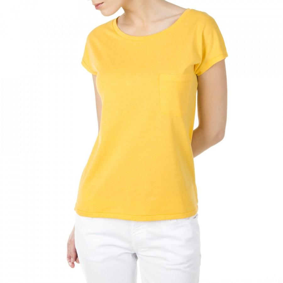 T-shirt manches courtes en coton Hilda jaune