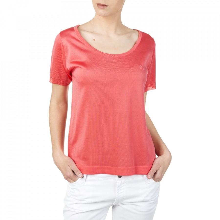 T-shirt en Fil Lumière Dara rose foncé 4373