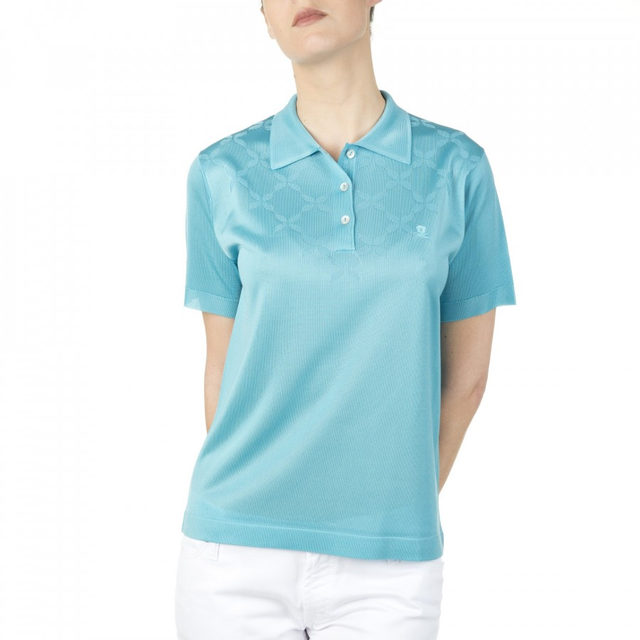 Polo femme Fil Lumière Ines 4834 turquoise