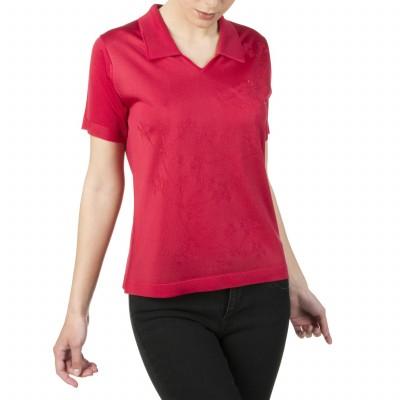 T-shirt femme en fil Lumière motif fleurs Isaline