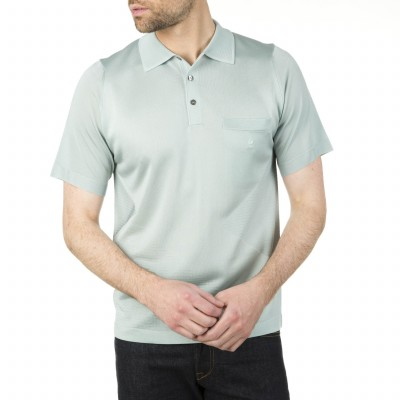 Fil Lumière polo for men with triangle motif Iwen