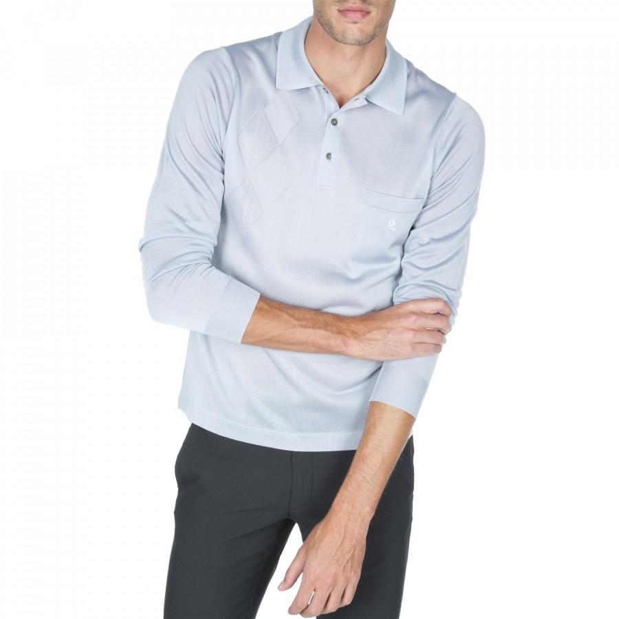 Long sleeve polo Fil Lumière Donato