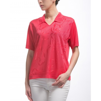 Women's Fil Lumière polo-shirt with pattern Kalyne