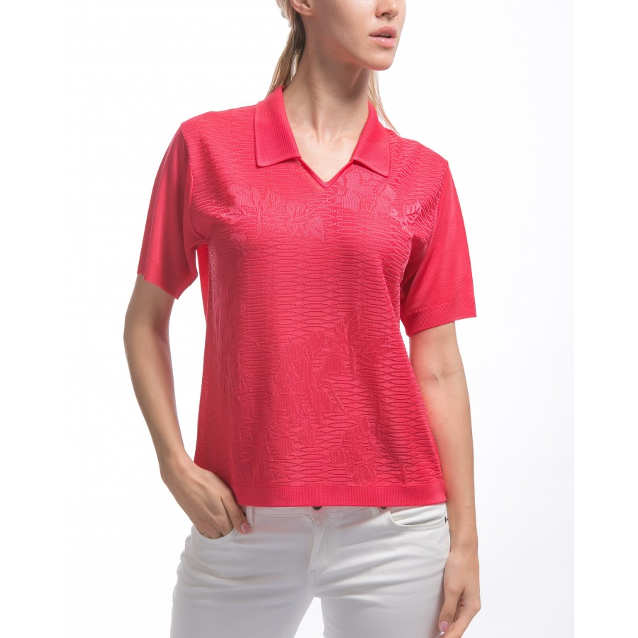 Patterned women's Fil Lumière polo-shirt Kristina