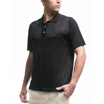 Men's patterned Fil Lumière polo-shirt Kenji