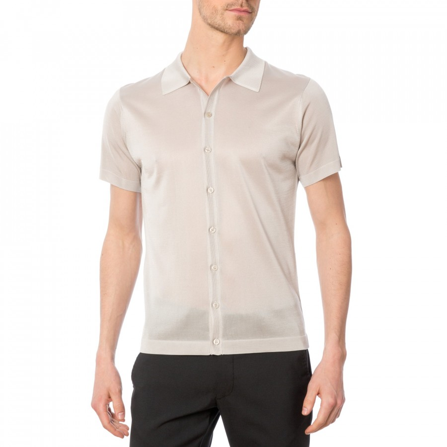 Short sleeves shirt made of Fil lumière