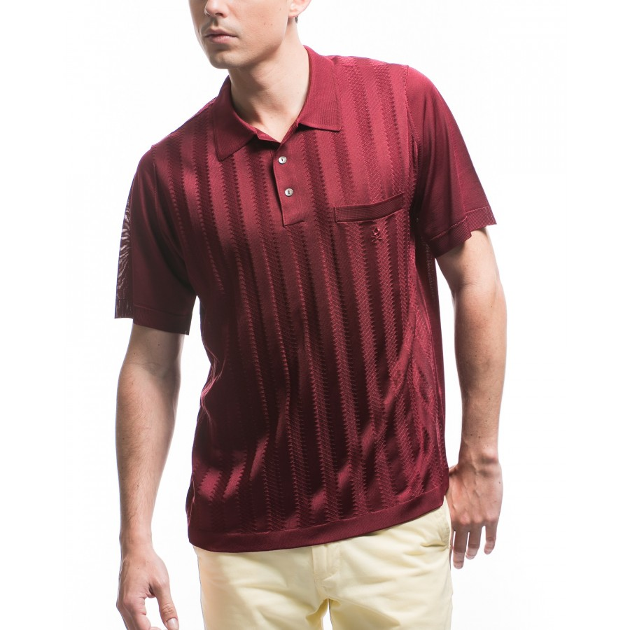 Men's  striped Fil Lumière polo-shirt Konan
