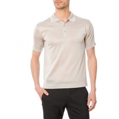 Man polo shirt without pocket Fil lumière Dave