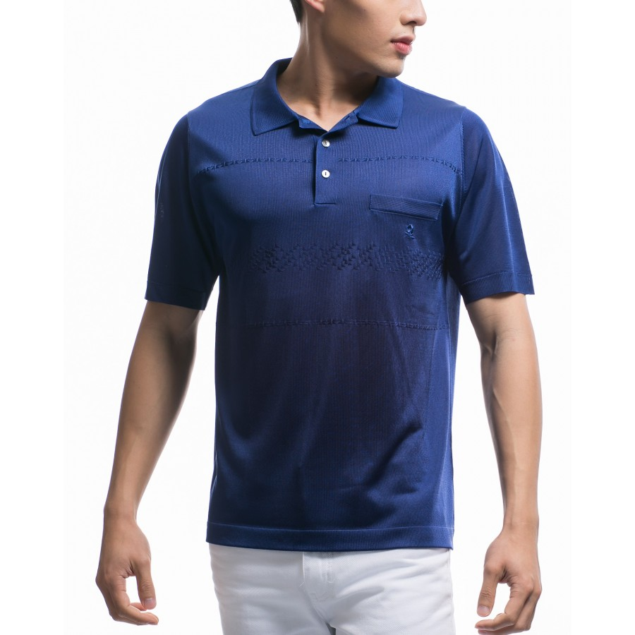 Men's patterned short-sleeves Fil Lumière polo-shirt Kylian