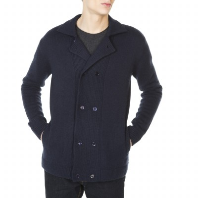 Men's pea jacket 100% cashmere Jeffrey