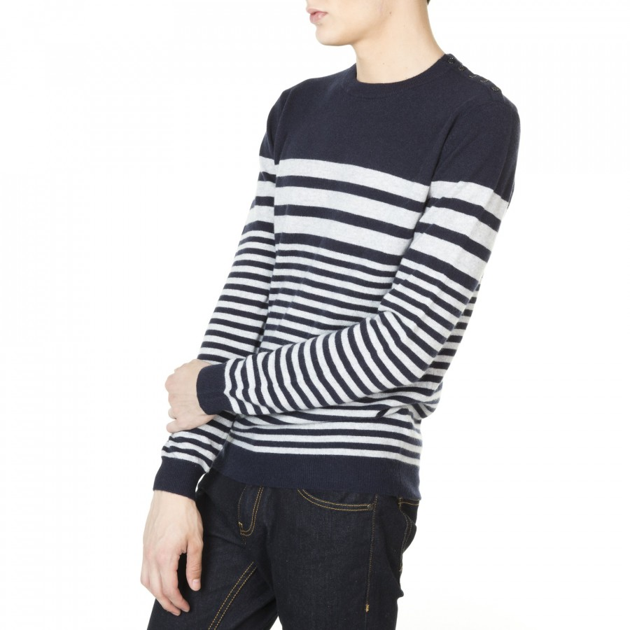 Marine cashmere sweater for men Jessy
