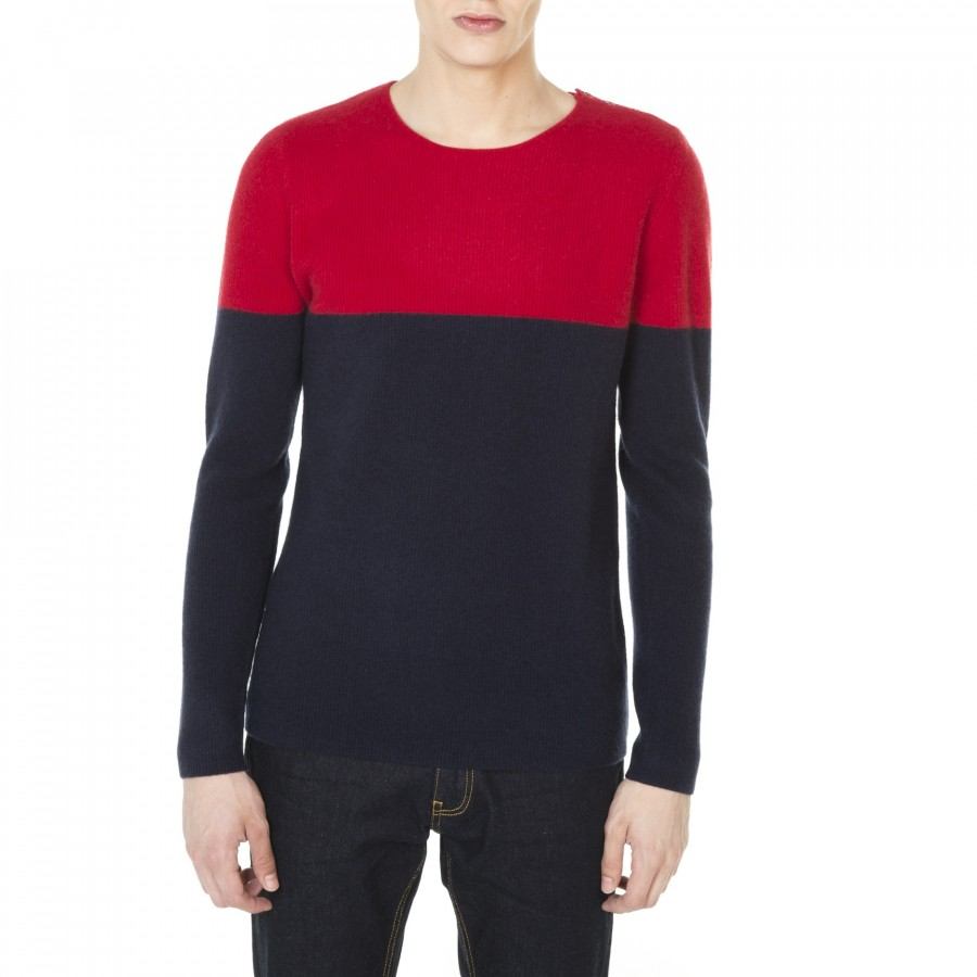 Two-tone cashmere sweater Jim