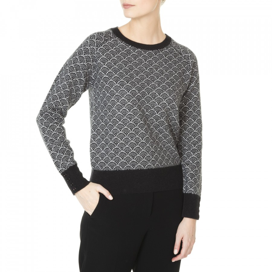 cashmere sweater for women with a graphic pattern Jeanna 9c232edb4