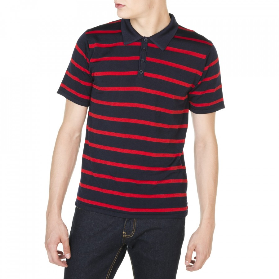 Striped polo made from Fil Lumière Janis