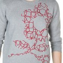 Sweat man in cotton and cashmere pattern Justin
