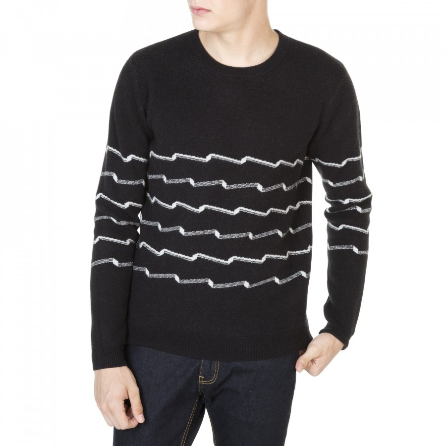Cashmere sweater for men with graphic pattern Johan