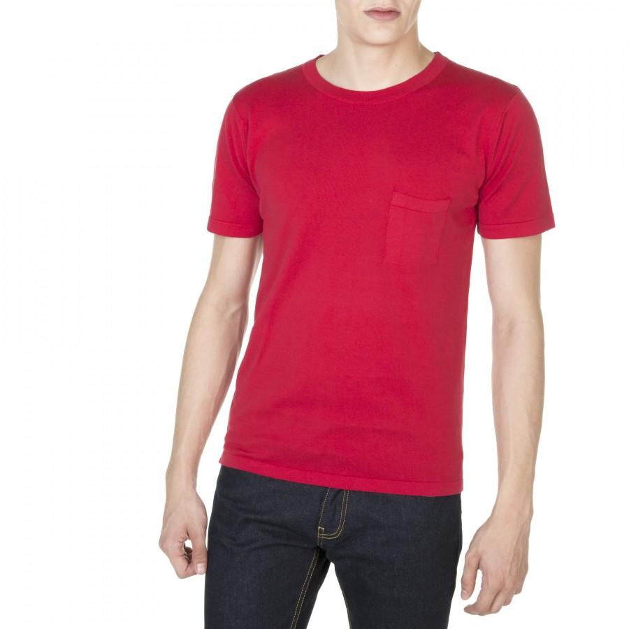 T-shirt col rond manches courtes Duncan 5128 coquelicot - 52 rouge