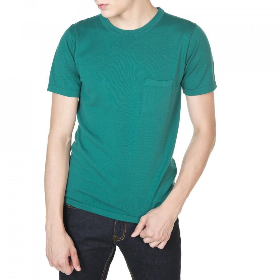 T-shirt col rond manches courtes Duncan 5372 voyage - 21 vert foncé