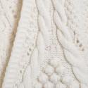 Manteau torsadé en laine Collection Capsule 0330 blanc - 82 Ecru